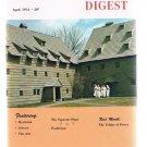 Rosicrucian Digest April 1974-Mysticism-Positivism-Elizabeth Blackwell-Ephrata