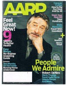 AARP Magazine January 2007-Robert DeNiro-Marlo Thomas-David Hyde Pierce -Newhart
