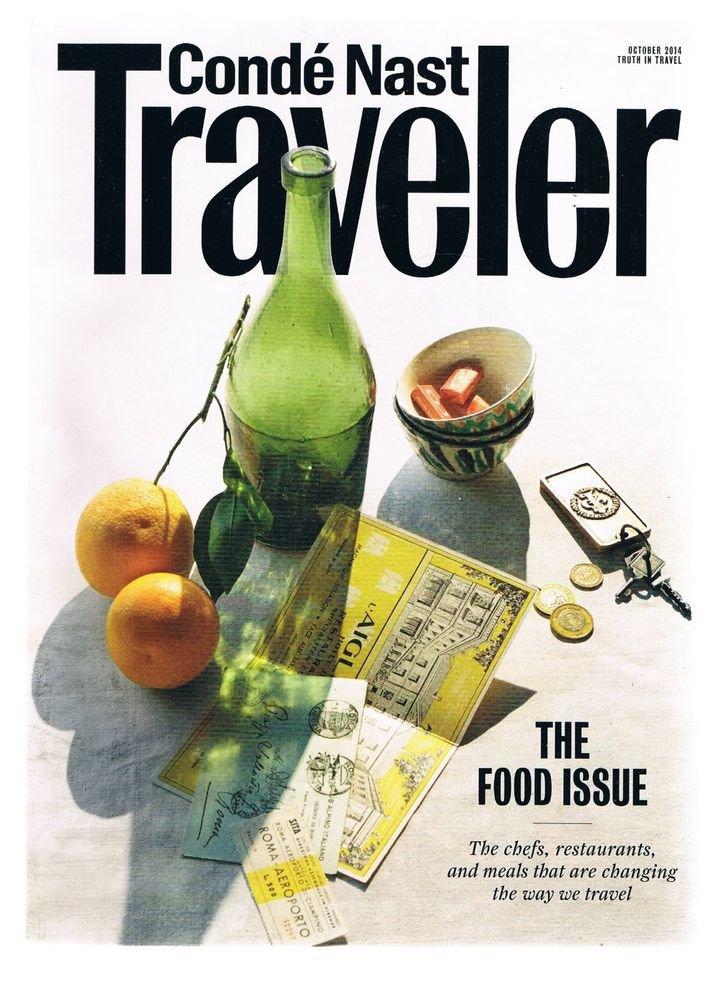 CONDE NAST TRAVELER Magazine October 2014 -Food Issue-Chefs-Restaurants-Meals +