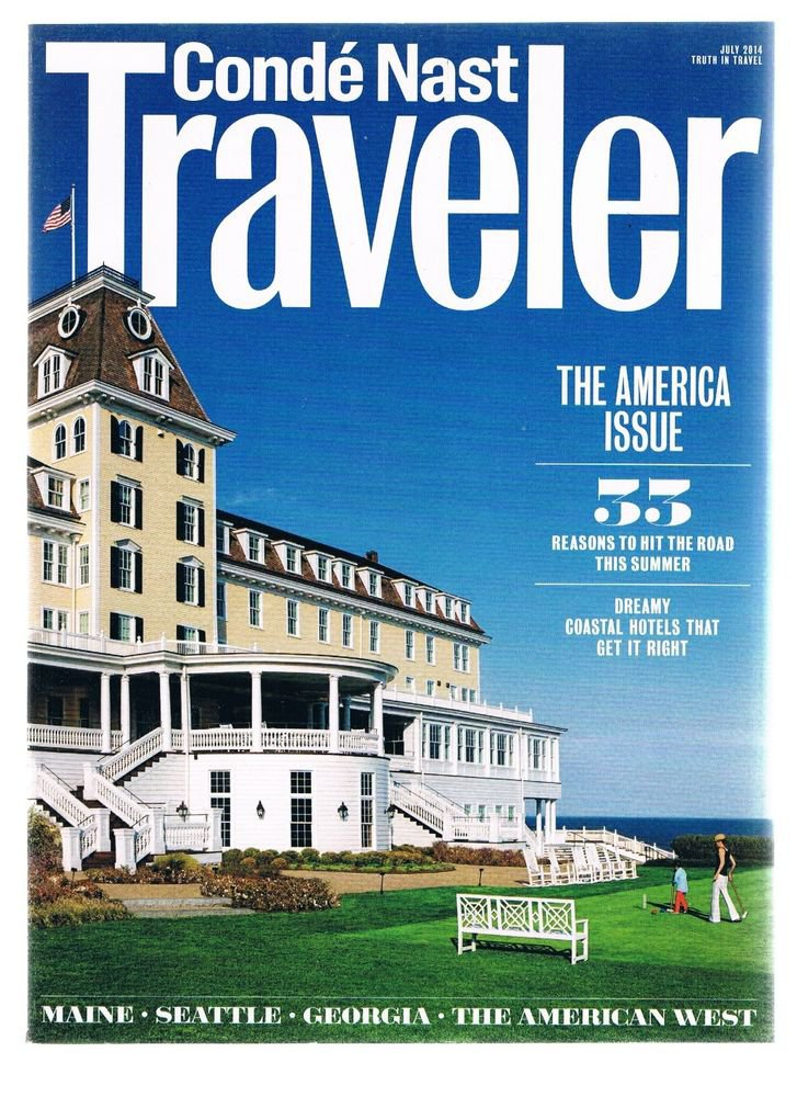 CONDE NAST TRAVELER Magazine-July 2014 -The America Issue-Dreamy Coastal Hotels-