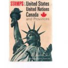 STAMPS OF THE UNITED STATES UNITED NATIONS CANADA & Provinces-Harris 1974 Ed