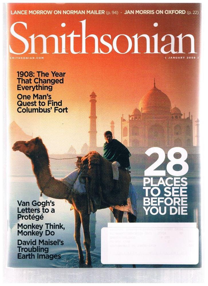 SMITHSONIAN Magazine January 2008 -Van Gogh-1908 Year Of Change -Norman Mailer +
