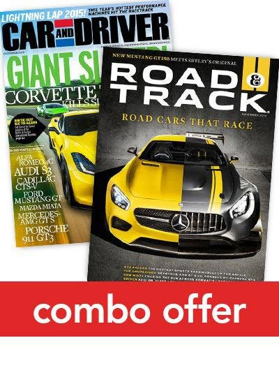 Car and Driver/Road & Track Combo Magazine Subscriptions 1 Year 22 Issues
