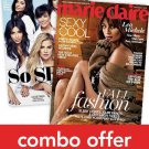 Cosmopolitan/Marie Claire Combo Magazine Subscription 1 Year 24 Issue