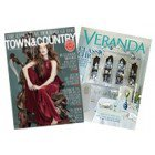 Town & Country and Veranda, 1-Year Subscription to Two Magazines, 16 issues