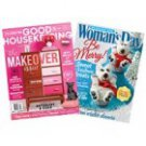 Magazine Subscription to Good Housekeeping & Woman's Day, 1 Year, 24 Print Issues