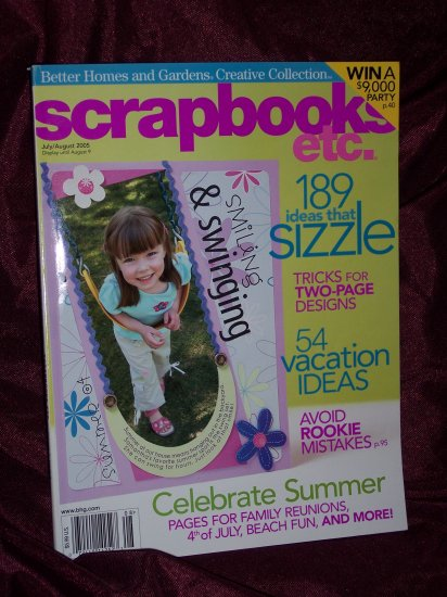Scrapbooks Etc. July/August 2005  from Better Homes & Gardens Creative Collection