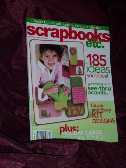 Scrapbooks etc. November/December 2005 from Better Homes & Gardens Creative Collections