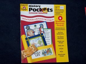 History Pockets: Colonial America by Evan-Moor-Grades 4-6