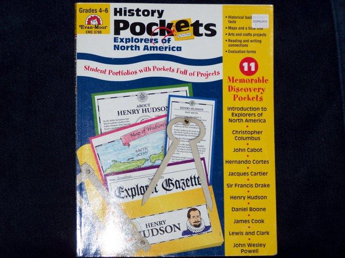 History Pockets: Explorers of North America by Evan-Moor-Grades 4-6