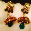 New Indian Ethnic Kundan Jumke