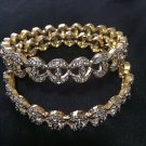 Brand New Indian Wedding Diamond Style Bangels Set