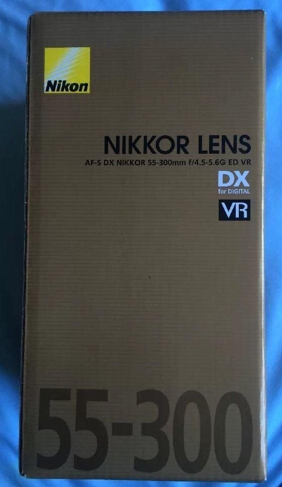 Nikon AF-S DX NIKKOR 55-300mm f/4.5-5.6G ED VR Telephoto Zoom Lens Brand New