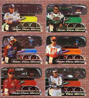 Press Pass VIP 2000 Rear View Mirror Diecut Set 1-6