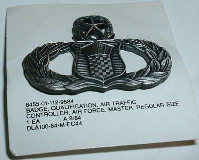 Air Traffic Controller Badge, master, mint condition