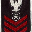 Master at Arms (ship's police) Petty Officer First Class rating badge