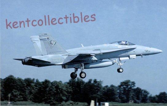 F-18C Hornet military aircraft postcard