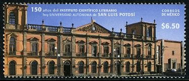 Mexico University of San Luis Potosi, new issue set of 1 stamp, mnh