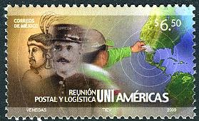 Mexico Postal Meeting, new issue set of 1 stamp, mnh