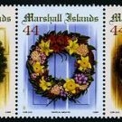 Christmas Wreaths, Marshall Islands, 2009 strip of 5 different stamps, mnh