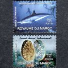 Marine Life, Morocco 2009 set of 2 stamps, mnh
