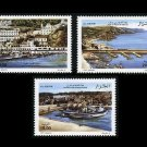 Fishing Ports, Ships, Algeria set of 3 stamps 2009