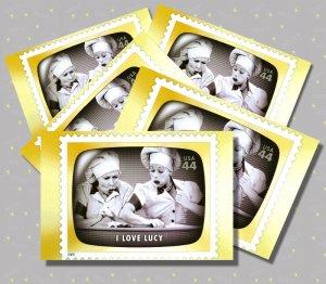 I Love Lucy, 5 TV Memories Postcards, mint