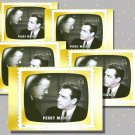 Perry Mason, 5 TV Memories Postcards, mint