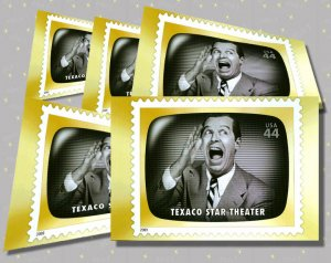 Texaco Star Theater, 5 TV Memories Postcards, mint