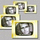 The Twilight Zone, Rod Serling, 5 TV Memories Postcards, mint