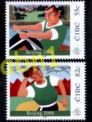 Ireland Olympics Beijing 2008 set of 2 stsmps + SS