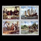 Voyages of Columbus, setenant block of 4, mnh