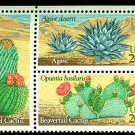 Desert Plants plate block of 4, mnh
