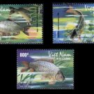 Vietnam River Fish set of 3 stamps 2008 new issue, MNH