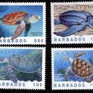 Barbados Sea Turtles 2007 issue, set of 4 MNH