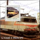St Thomas & Prince Islands Train Souvenir Sheet