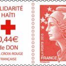 Aid to Haiti, France semi-postal stamp, mnh