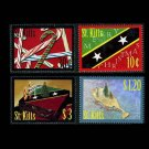 Christmas 2009 St. Kitts set of 4 stamps, mnh