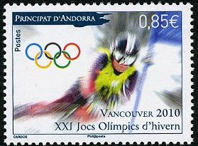 Andorra--French Vancouver 2010 Olympics set of 1 stamp, mnh