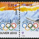 France Vancouver 2010 Olympics setenant pair, mnh