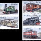 Sweden Trains Set of 5,  2007 mnh ex-booklet
