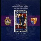 Royal Wedding William & Kate Gibraltar souvenir sheet