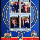 Royal Wedding William & Kate Montserrat mini sheet + souvenir sheet