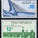 Bridges Czech Republic 2010 set of two stamps, mnh