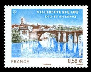 Bridge Villeneuve, France set of 1 stamp, mnh