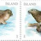 Iceland Seals 2011 set of 2 stamps, mnh