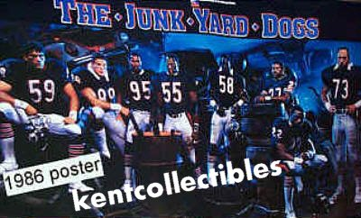 Classic Chicago Bears Poster: The Junk Yard Dogs, mint condition