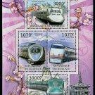 Japanese Trains souvenir sheet + mini sheet, mnh