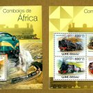 African Trains souvenir sheet + mini sheet, mnh