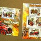 Antique Fire Engines souvenir sheet + mini sheet, mnh